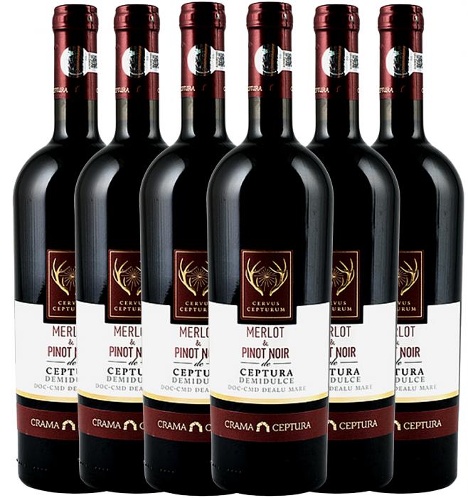 Cervus Cepturum Merlot & Pinot Noir De Ceptura Demidulce  0.75L - 2 buc. [0]