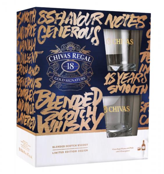 Chivas Regal 18 Ani Gift Pack cu doua pahare 0.7L 40% alc./vol. [0]