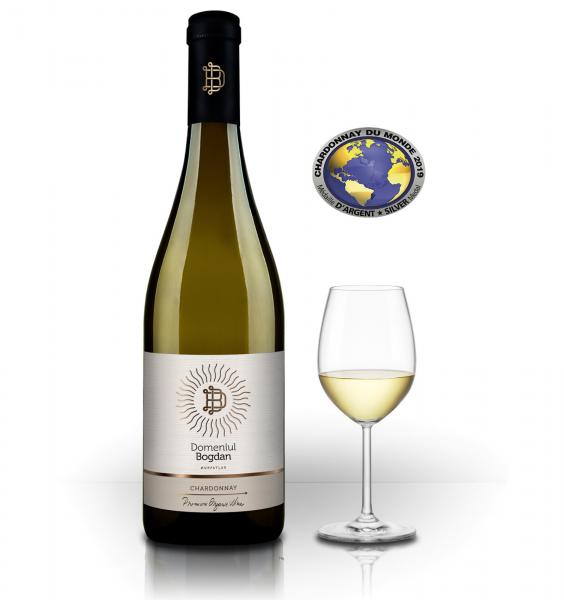 Domeniul Bogdan Chardonnay Organic Sec 2019 0.75L 13.5% alc./vol. [0]