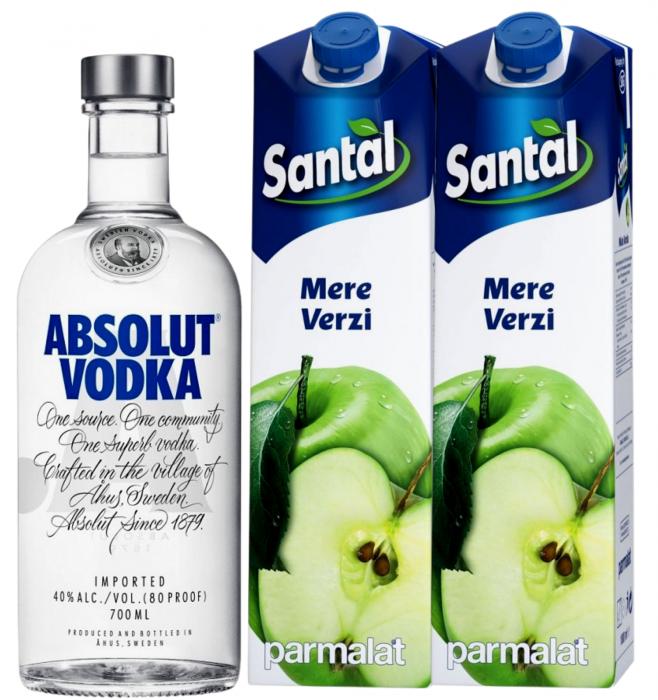 Pachet Apple Vodka - Absolut 0.7L [0]