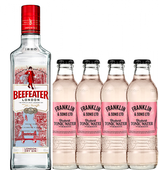 Pachet Beefeater 0.7L & Rhubarb&Hibiscus Tonic Water 0.2L [0]