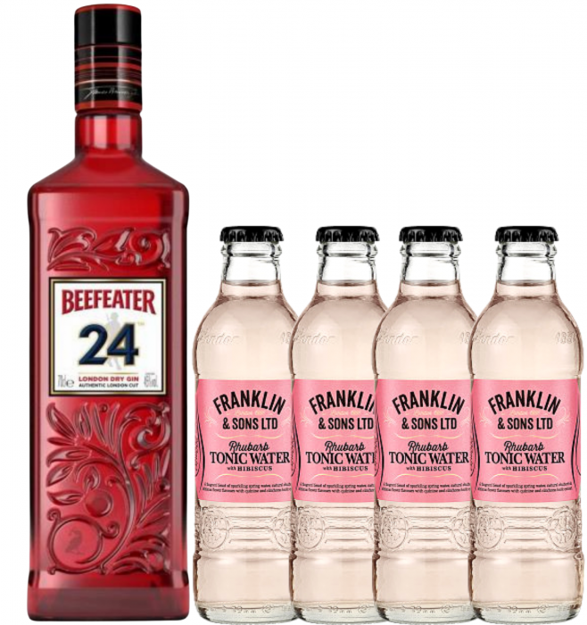 Pachet Beefeater 24 & Rhubarb&Hibiscus Tonic Water 0.2L [0]