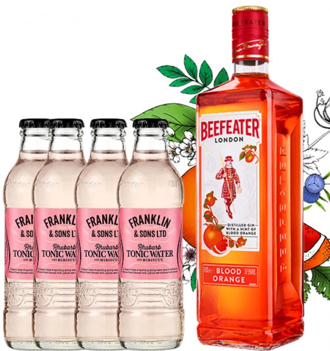 Pachet Beefeater Blood Orange 0.7L & Rhubarb&Hibiscus Tonic Water 0.2L [0]