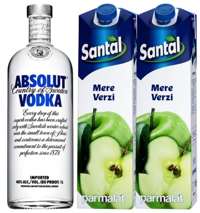 Pachet Apple Vodka - Absolut 1L [0]