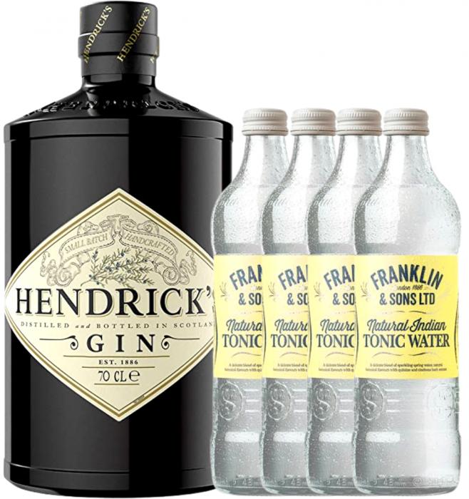 Pachet Gin Hendrick's 0.7L & Indian Tonic Water 0.2L [0]