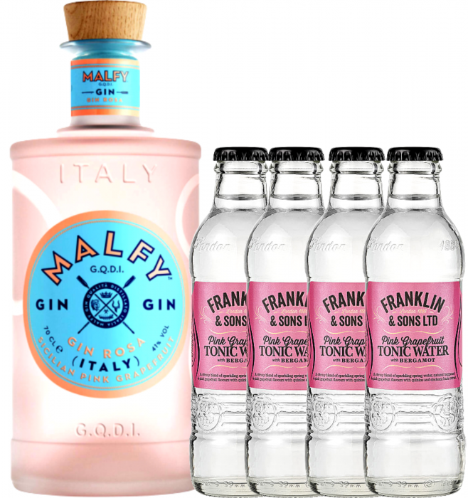 Pachet Gin Malfy Mosa 0.7L & Pink Grapefruit Tonic Water 0.2L [0]
