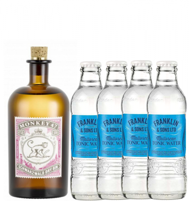 Pachet Gin Monkey 47 0.5L & Mallorcan Tonic Water 0.2L [0]