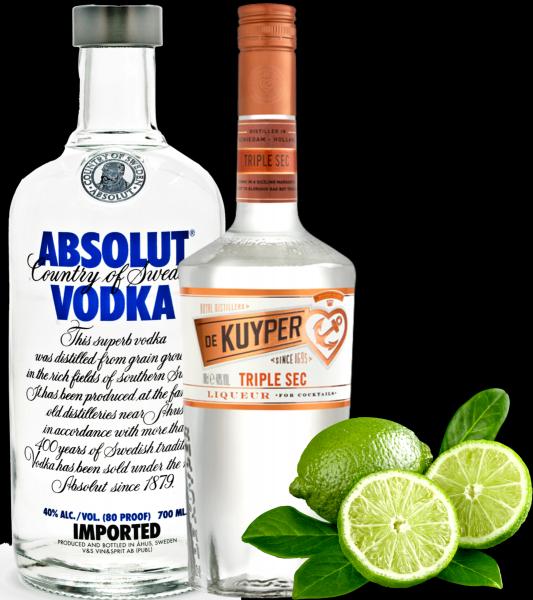 Pachet Kamikaze Absolut Vodka + 6 Pahare Shot Cadou [0]