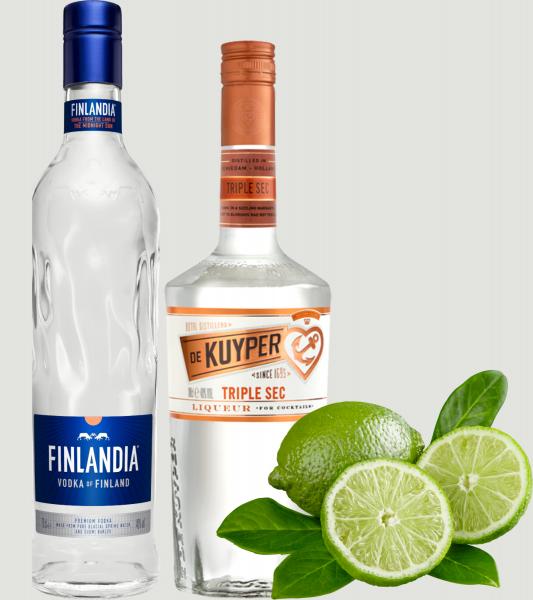 Pachet Kamikaze Finlandia Vodka 0,5L + 6 Pahare Shot Cadou [0]