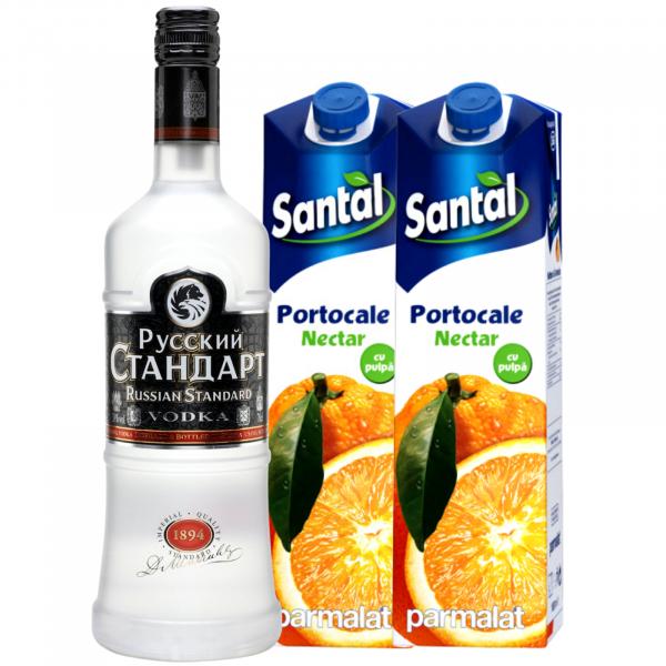 Pachet Orange Vodka - Russian Standard Vodka 0.7L [0]