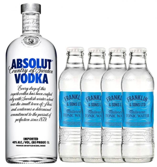 Pachet Vodka Absolut 0.7L & Mallorcan Tonic Water 0.2L [0]