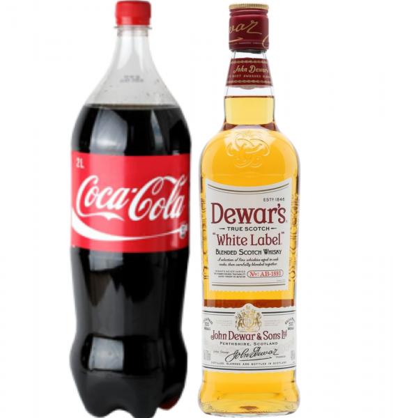 Pachet Whisky Cola Dewar's White Label 0.7L [0]