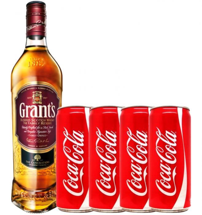 Pachet Whisky Cola Grant's 0.7L [0]