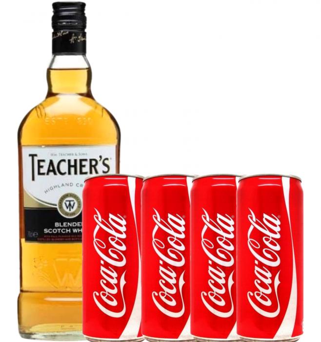 Pachet Whisky Cola Teacher's 0.7L [0]