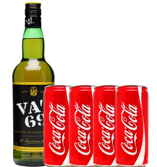 Pachet Whisky Cola Vat 69 [0]