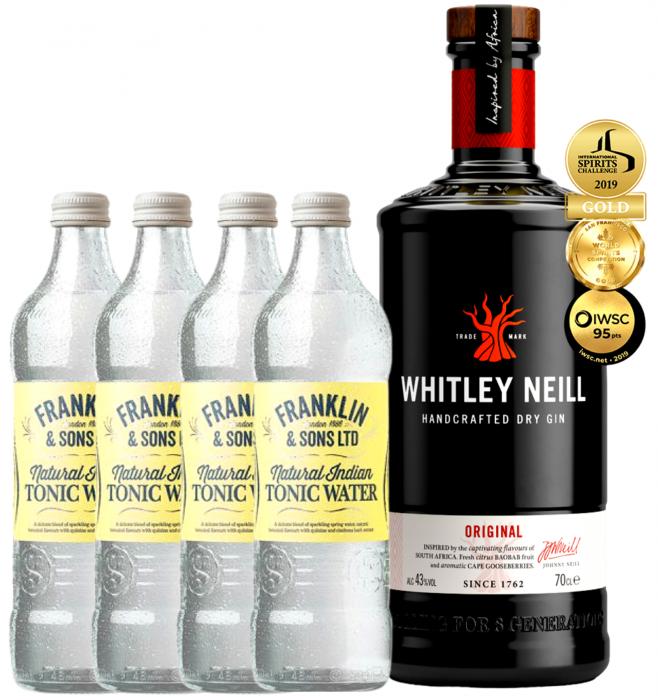 Pachet Whitley Neill Original 0.7L & Indian Tonic Water 0.2L [0]
