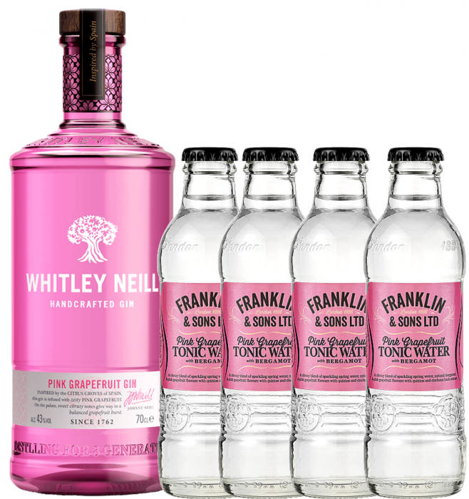 Pachet Whitley Neill Pink Grapefruit 0.7L & Pink Grapefruit Tonic Water 0.2L [0]