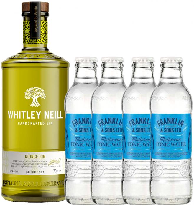Pachet Whitley Neill Quince 0.7L & Mallorcan Tonic Water 0.2L [0]
