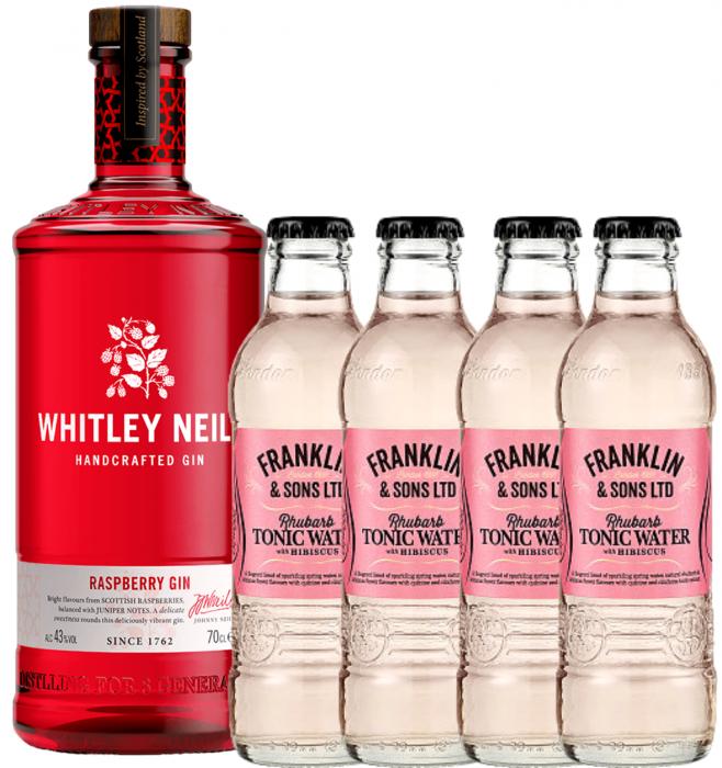 Pachet Whitley Neill Raspberry 0.7L & Rhubarb&Hibiscus Tonic Water 0.2L [0]