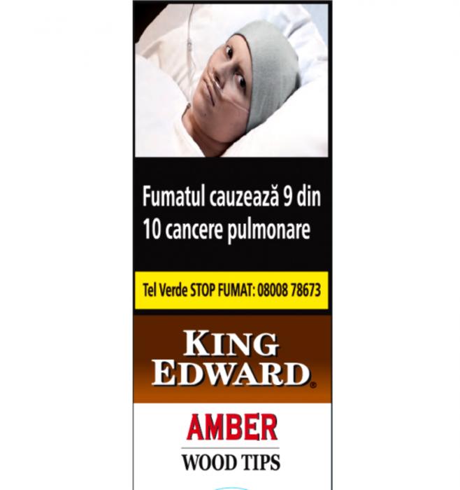 King Edward Wood Tips aMBER Vanilla  - 5 buc. [0]