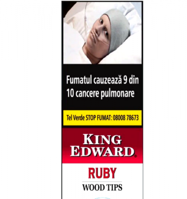 King Edward Wood Tips Ruby Cherry  - 5 buc. [0]