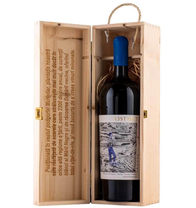 Crama Trantu Abstract Cabernet Sauvignon & Merlot & Feteasca Neagra Sec 1.75L + Cutie Lemn Cadou [0]