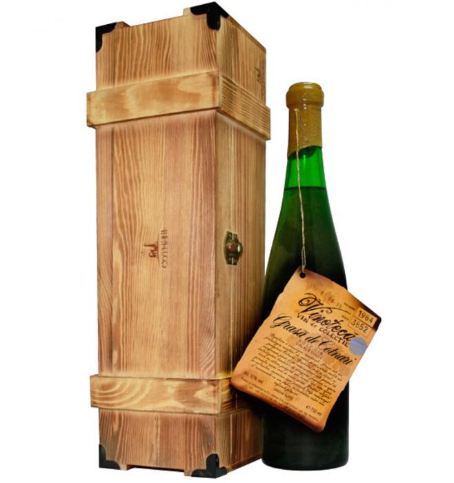 Vinoteca Grasa de Cotnari Alb Dulce 0.75L 1984 + Cutie Lemn [0]