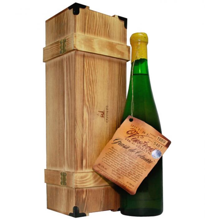 Vinoteca Grasa de Cotnari Alb Dulce 0.75L 1989 + Cutie Lemn [1]