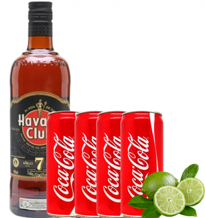 Pachet Cuba Libre Havana Club 7 Ani 0.7L [0]