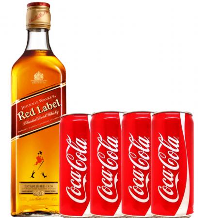 Pachet Whisky Cola Johnnie Walker Red Label 0.7L [0]