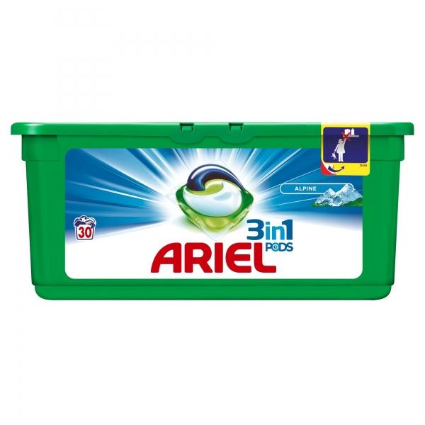 Ariel Detergent Capsule 3in1 PODS, 30 buc, Alpine [0]