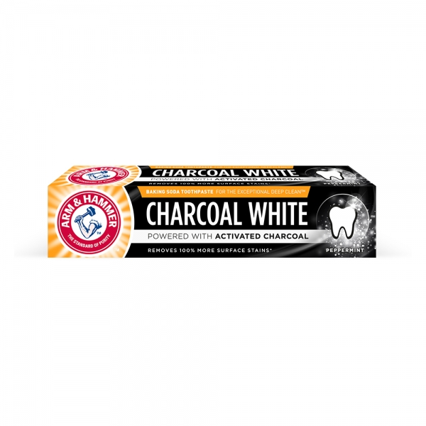 Arm and Hammer Pasta de dinti, Charcoal White, 75 ml [0]