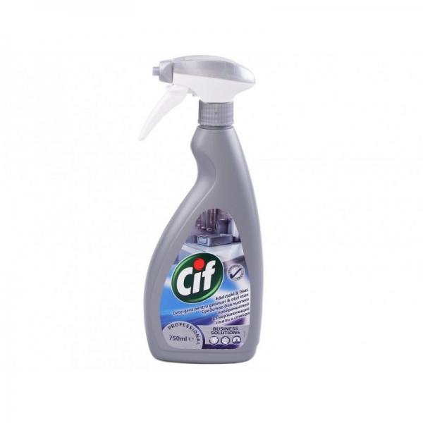 Cif Detergent pentru Geamuri si Otel, Inox, cu pompa, 750 ml, Professional [0]