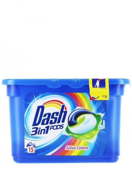 Dash Detergent capsule 3in1 PODS, 15 buc, Color [0]