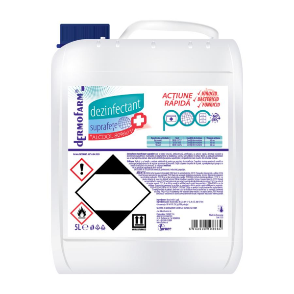 Dermofarm Dezinfectant suprafete cu Alcool 80 percent, 5 L [0]