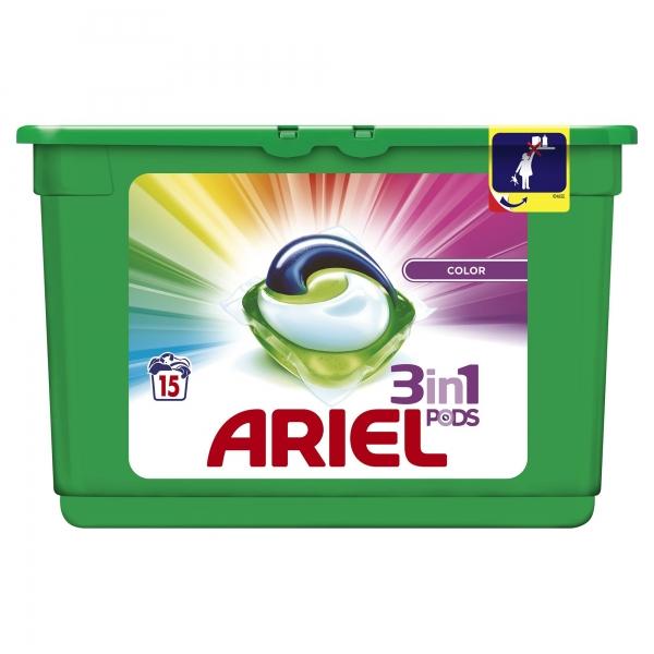 Ariel Detergent Capsule 3in1 PODS, 15 buc, Color [0]