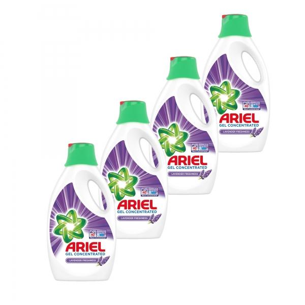 Pachet promo 4 x Ariel Detergent lichid, 2.2L, 40 spalari, Lavanda [0]
