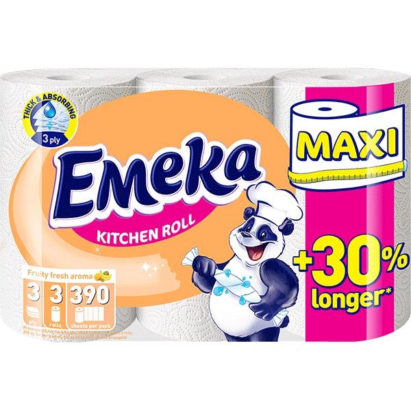 Emeka Fruity Fresh Prosop hartie, 3 role, Maxi [0]