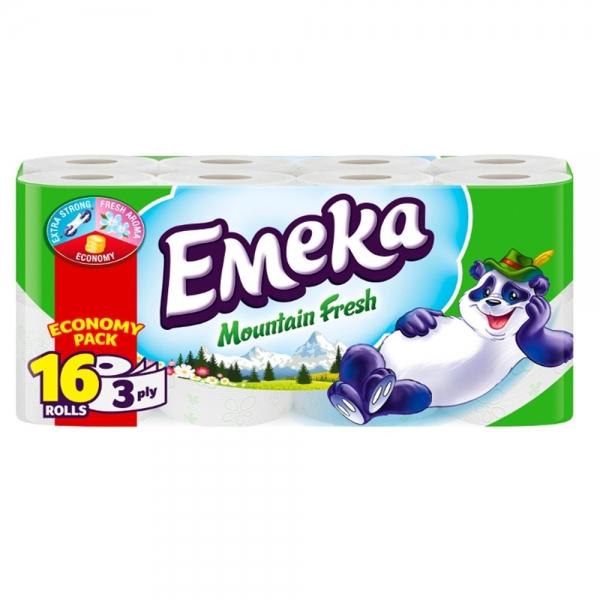 Emeka Mountain Fresh Hartie igienica, 3 straturi, 16 role [0]