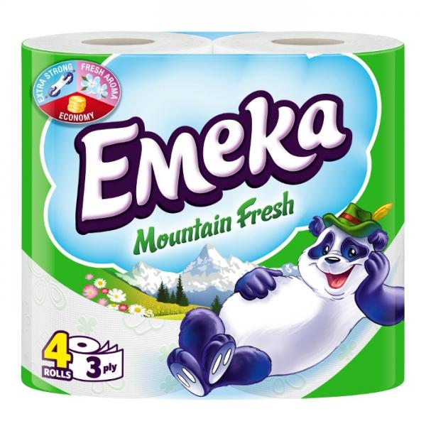 Emeka Mountain Fresh Hartie igienica, 3 straturi, 4 role [0]