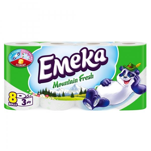Emeka Mountain Fresh Hartie igienica, 3 straturi, 8 role [0]