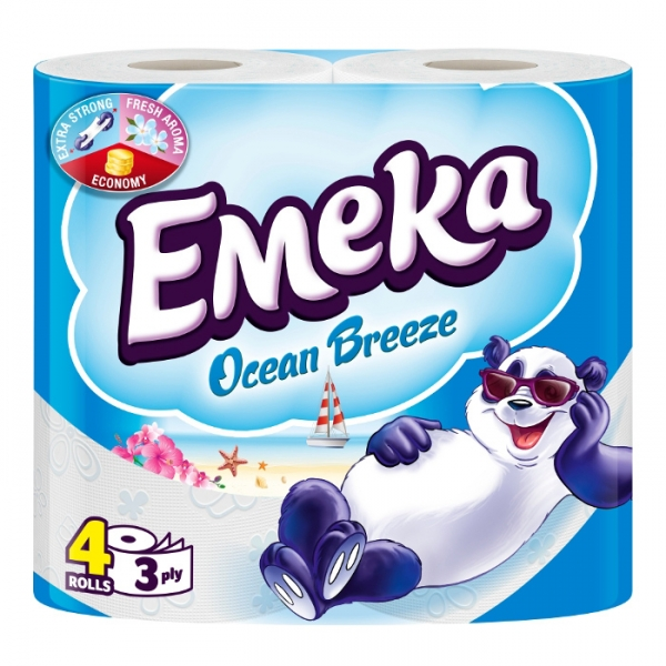Emeka Ocean Breeze Hartie igienica, 3 straturi, 4 role [0]