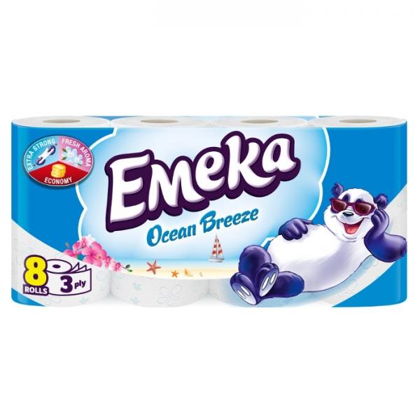 Emeka Ocean Breeze Hartie igienica, 3 straturi, 8 role [0]