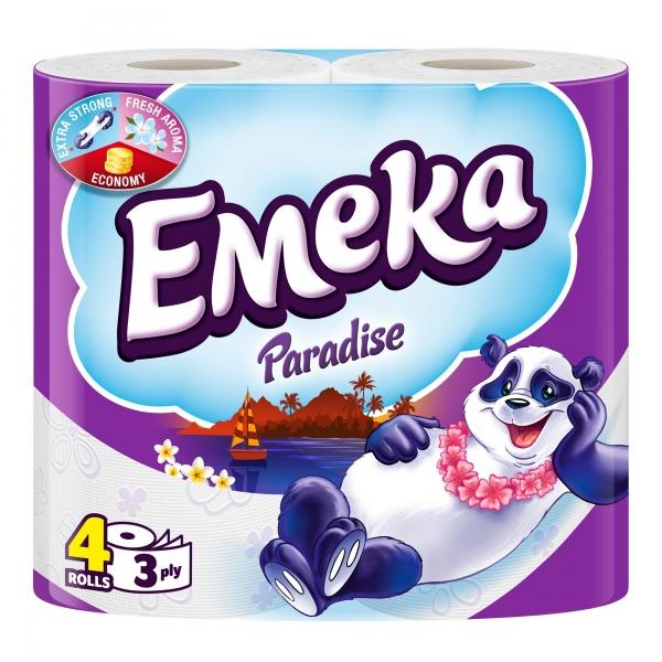 Emeka Paradise Hartie igienica, 3 straturi, 4 role [0]