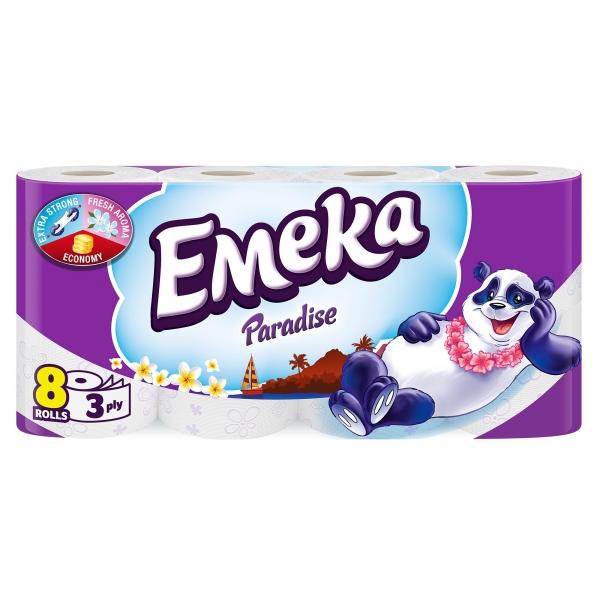 Emeka Paradise Hartie igienica, 3 straturi, 8 role [0]