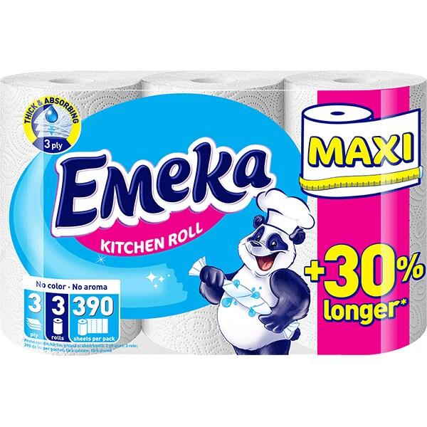 Emeka White Prosop hartie, 3 role, Maxi [0]