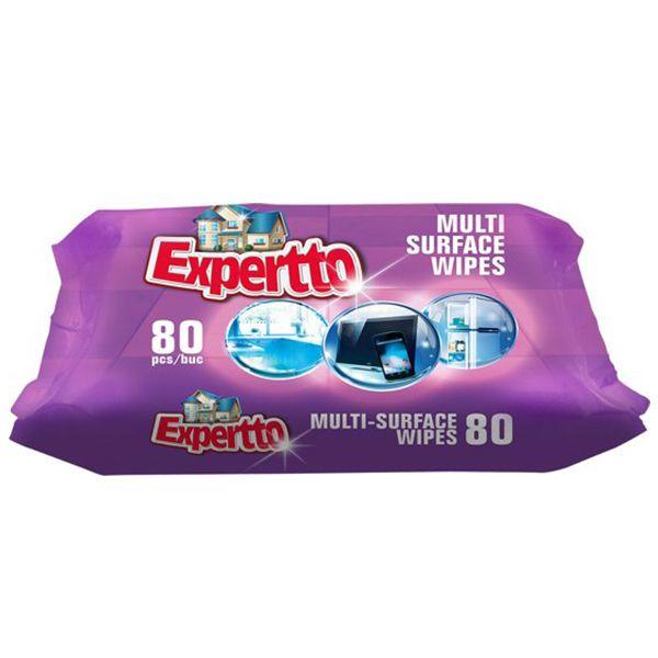 Expertto Servetele umede multisuprafete, 80 buc [0]