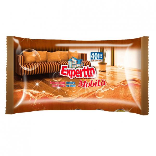 Expertto Servetele umede pentru mobila, 40 buc [0]