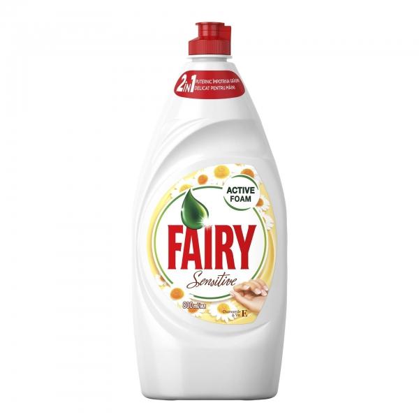 Fairy Detergent pentru vase, 800 ml, Sensitive Chamomile & Vitamin E [0]
