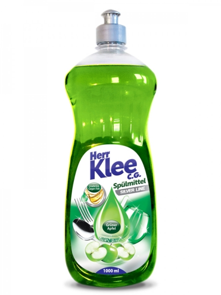 Herr Klee C.G. Detergent pentru vase, 1 L, Silver Line Green Apple [0]